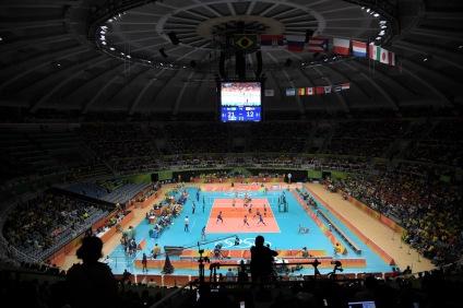 Ginásio do Maracanãzinho durante volei Brasil x Corea