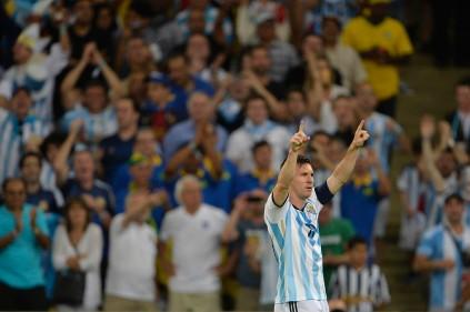 IRIO DE JANEIRO, RJ - 15/06/2014: ARGENTINA X BÓSNIA - Lionel MESSI da Argentina comemora gol durante partida entre Argentina x Bósnia, válida pela Copa do Mundo 2014, realizada no Maracanã. (Foto: Celso Pupo / Fotoarena)